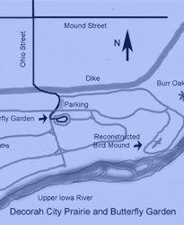 Decorah Prairie Butterfly Garden Map