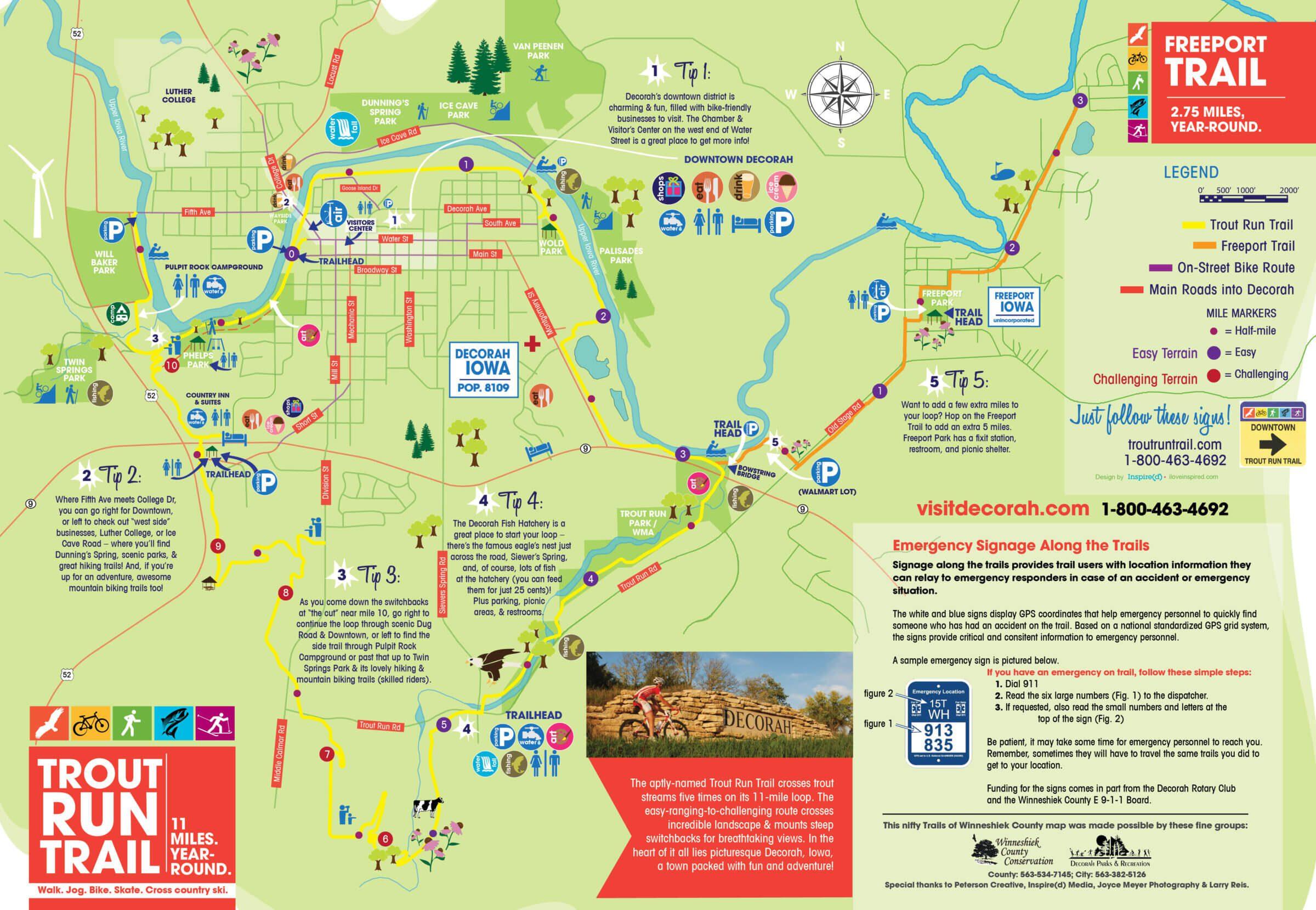 Trail Maps Decorah Park Recreation Department - At trail map