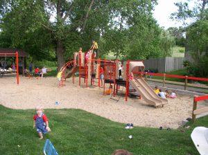 Children on playground equipment at Miller Park