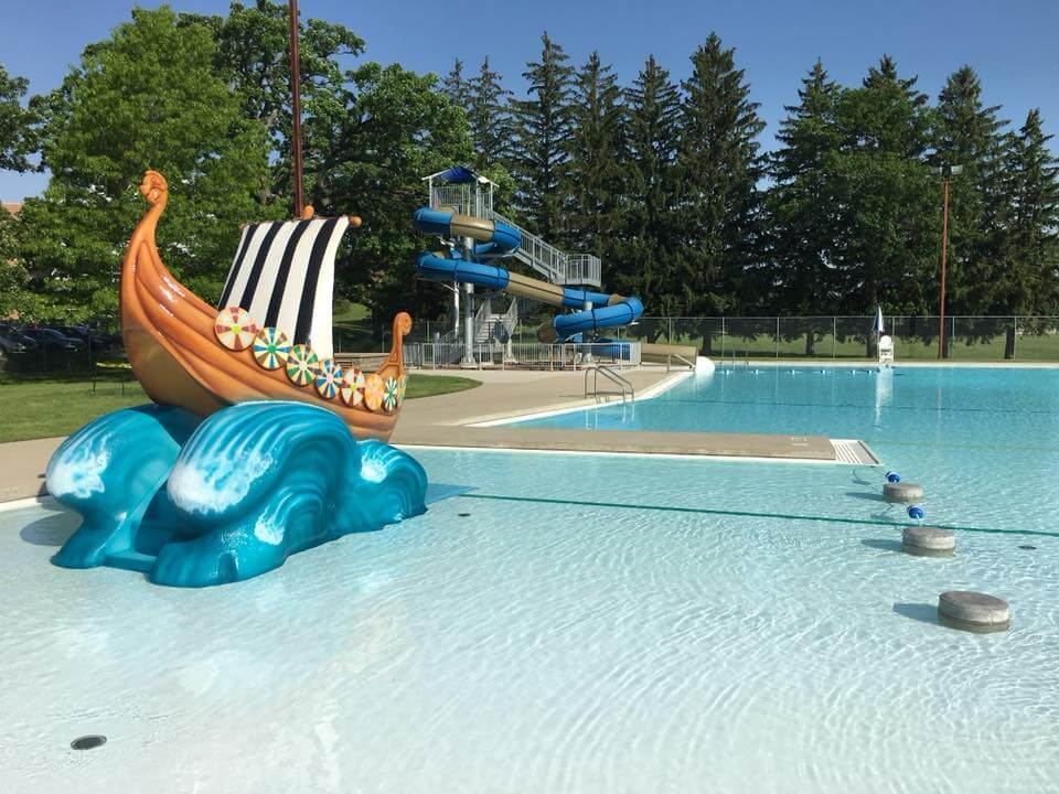 toddler and Nordic Plunge waterslide