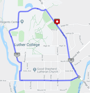 Map of walking loop