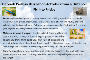 Activities for kids: be an airplane, build an airplane, flight school