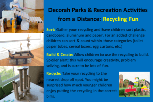 Ideas for kids to sort, build and recycle