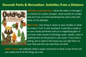List of possible outdoor activities for kids
