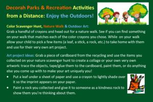 Activities for kids: Color scavenger hunt, nature walk & outdoor art