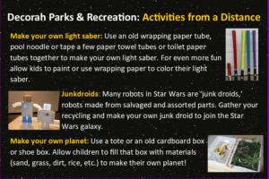 Star Wars based activites