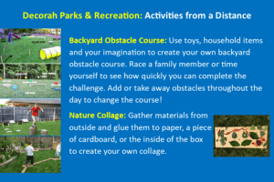 Backyard Obstacle Course & Nature Collage