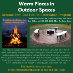 Warm Places in Outdoor Spaces: Fire Pit Reservation Program