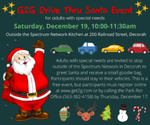 G2G Drive Thru Santa Event