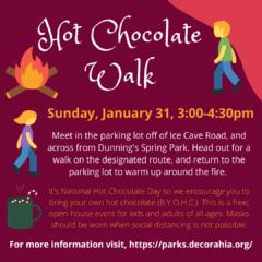 Hot Chocolate Walk Sun, Jan 31