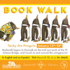 Tacky the Penguin Book Walk