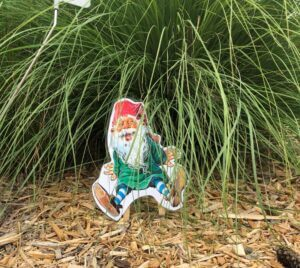 Paper Cutout Gnome in Park